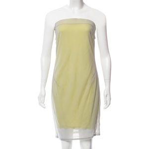 Helmut Lang strapless mini dress